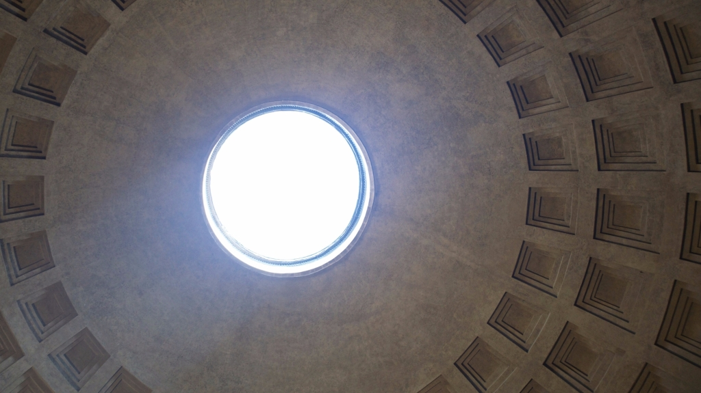 Roof of the Pantheon Church in Rome